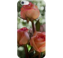 Apricot Roses with Pastel background iPhone Case/Skin
