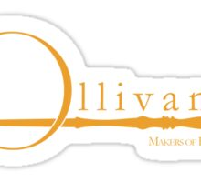 Ollivanders Logo in Yellow Sticker