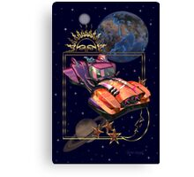 Future Travel by Space Car Canvas Print