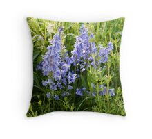 bluebells on the meadow Throw Pillow