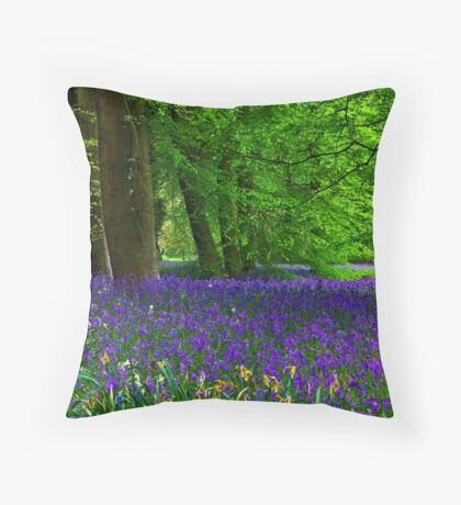 Bluebell Wood - Thorpe Perrow #1  (Spring) Throw Pillow