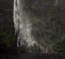 Waterfall, Milford Sound by Christopher Biggs