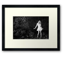 Alice at the Cliff Face Framed Print