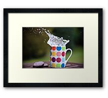 Spotty splash Framed Print