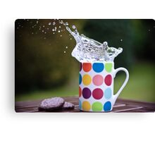 Spotty splash Canvas Print