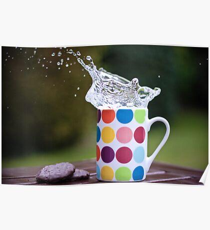 Spotty splash Poster
