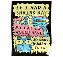Shrink Ray Cat Poster