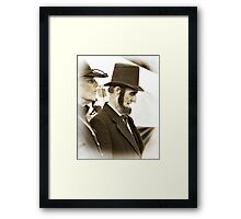 Lincoln Addresses the Troops Framed Print