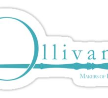 Ollivanders Logo in Blue Sticker