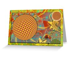 Abstract Spheres in Motion Greeting Card
