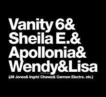Prince Proteges Apollonia & Carmen Electra Helvetica Ampersand by juk3box
