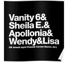 Prince Proteges Apollonia & Carmen Electra Helvetica Ampersand Poster