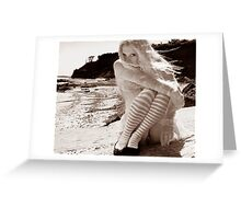 Waif on the Beach Greeting Card