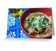 Thai Green Curry Chicken and Cauliflower Greeting Card