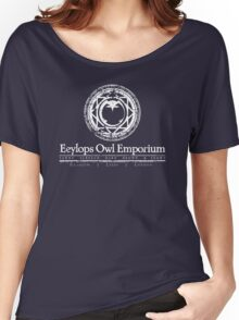 Eeylops Owl Emporium in White Women's Relaxed Fit T-Shirt