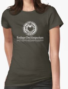 Eeylops Owl Emporium in White Womens Fitted T-Shirt