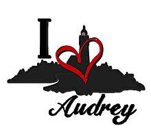 Haven I Love Audrey Logo Photographic Print