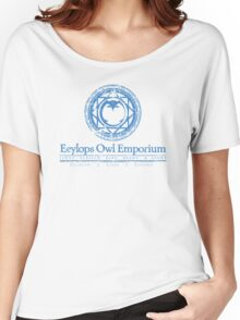 Eeylops Owl Emporium in Blue Women's Relaxed Fit T-Shirt