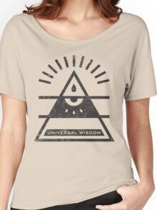Universal Wisdom - Typography and Geometry Women's Relaxed Fit T-Shirt