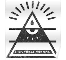 Universal Wisdom - Typography and Geometry Poster