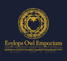 Eeylops Owl Emporium in Yellow Kids Tee