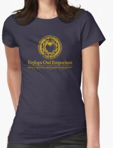 Eeylops Owl Emporium in Yellow Womens Fitted T-Shirt