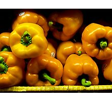 Yellow Peppers Photographic Print