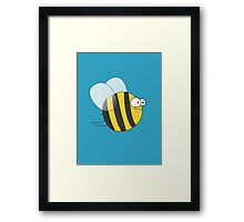 Cool & Crazy Funny Bee / Bumble Bee (Sweet & Cute) Framed Print