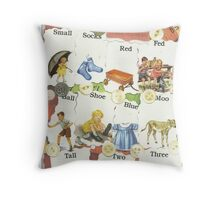 See Dick & Jane's Crazy Quilt.. Throw Pillow