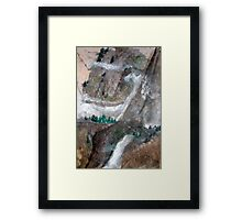 Pine Trees And Snow Mountain Framed Print