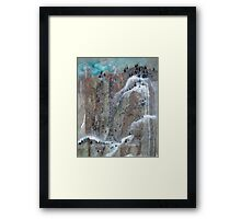 Pine Trees And Snow Mountain No.2 Framed Print