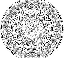 Taíno Mandala in Black by dinafiala
