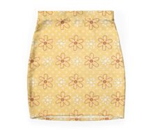 Little Flowers - Red and Gold Mini Skirt