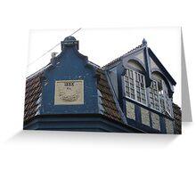 Rooftop Windows 1888 Greeting Card