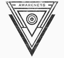 Awareness - Typography and Geometry Kids Tee