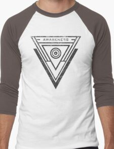 Awareness - Typography and Geometry Men's Baseball ¾ T-Shirt