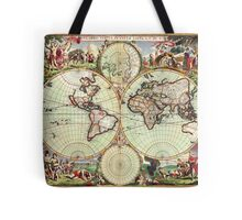 World Map 1665 Tote Bag