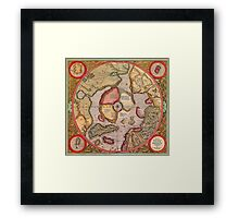 North Pole Map 1595 Framed Print