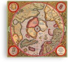 North Pole Map 1595 Canvas Print