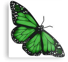 Butterfly Scarf - green Metal Print