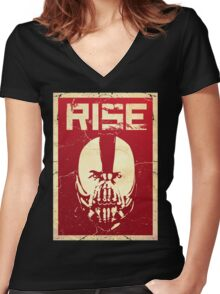 Rise Women's Fitted V-Neck T-Shirt