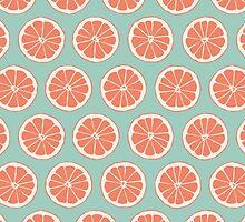 Medium Slices - Lime Tangerine by Sol Noir Studios