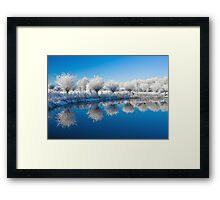 Winter White In Reflected Blue Framed Print