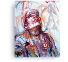 portrait with hat Canvas Print