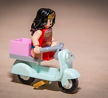 Wonder Woman on Scooter by garykaz