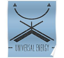 Universal Energy - Typography and Geometry Poster