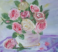 My Shabby Pink Roses by Wilma Tyler