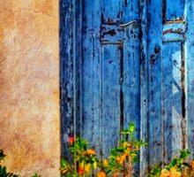Blue Door - Vintage Sticker