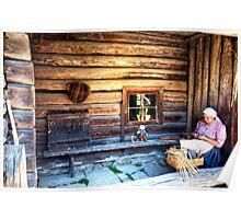 Woman Weaving in Estonia Poster