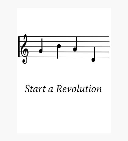 Start a Revolution Photographic Print